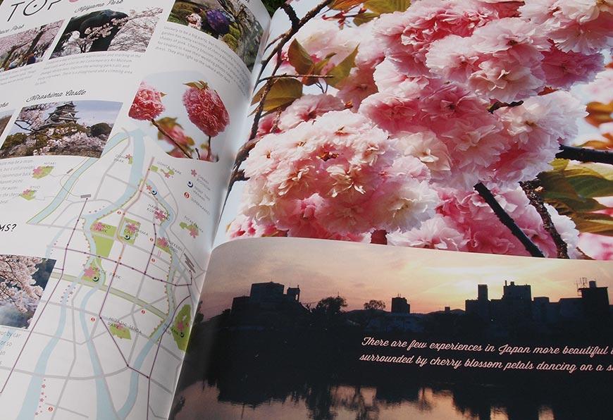 GetHiroshima mag #1 Hanami pages