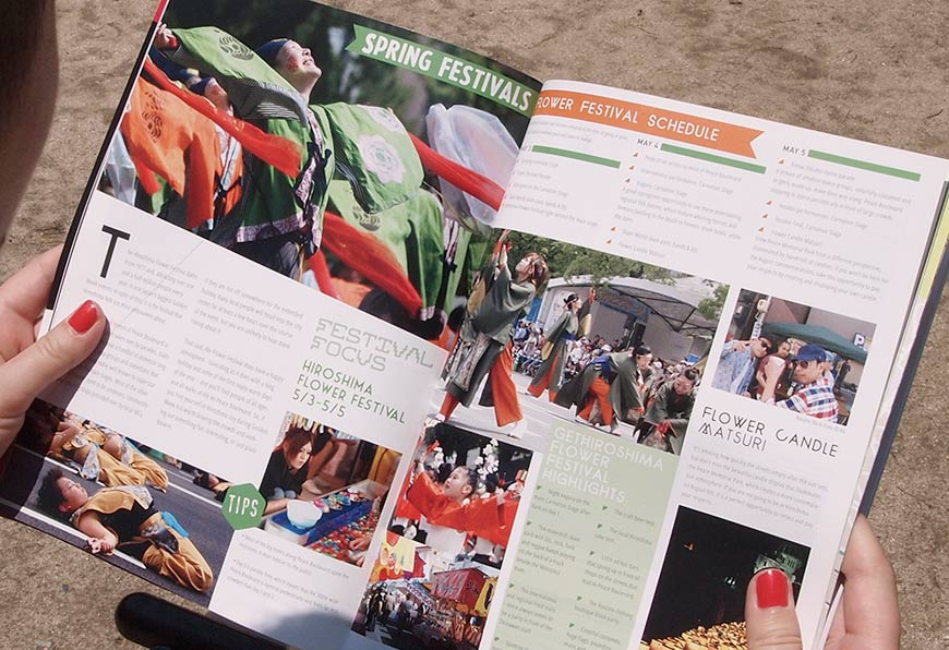 GetHiroshima mag #1 Flower festival page