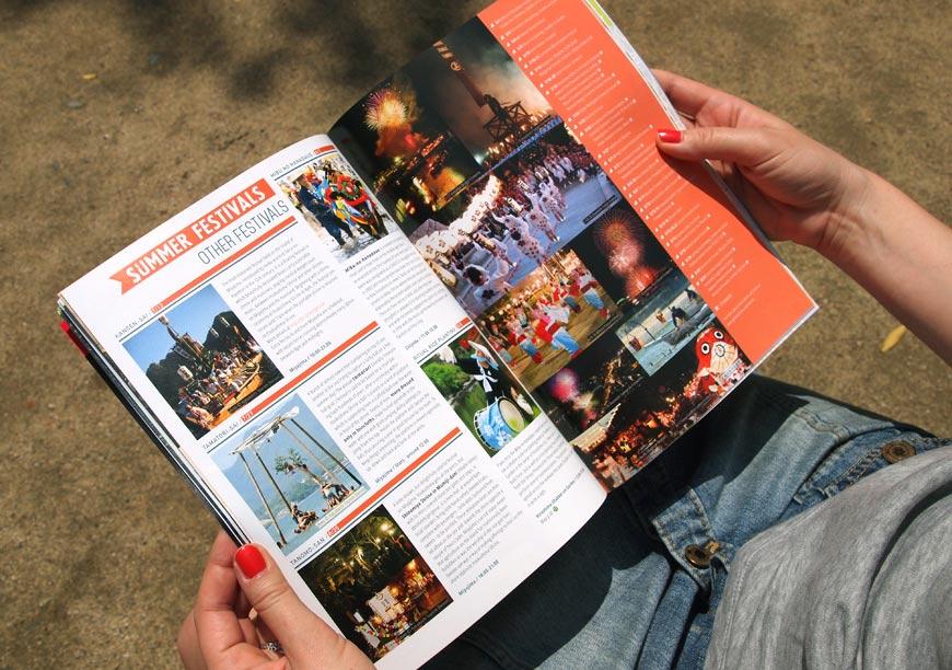 GetHiroshima mag #2 Festivals page