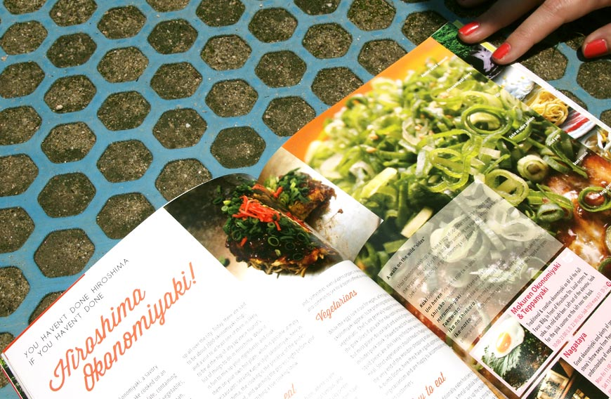 GetHiroshima mag #2 Okonomiyaki page