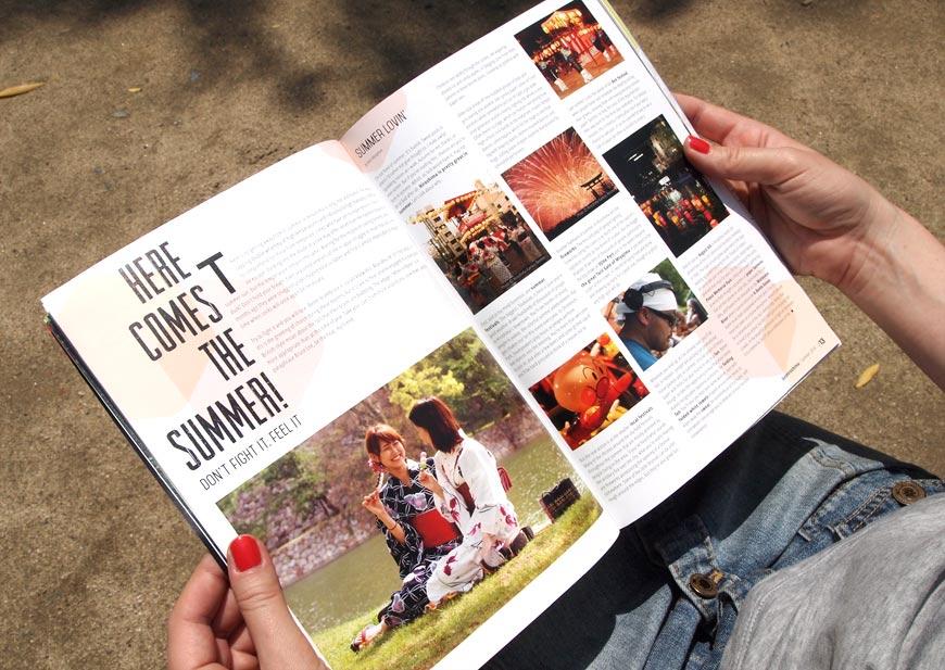 GetHiroshima mag #2 Summer page