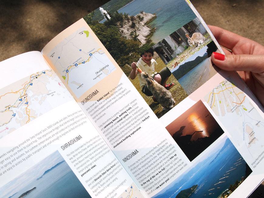 GetHiroshima mag #2 Island getaways page