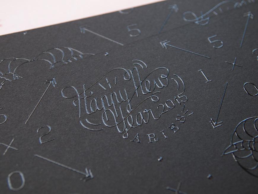 Nininbaori nengajo card hand letter font