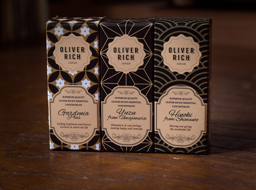 Oliver Rich Japan packaging