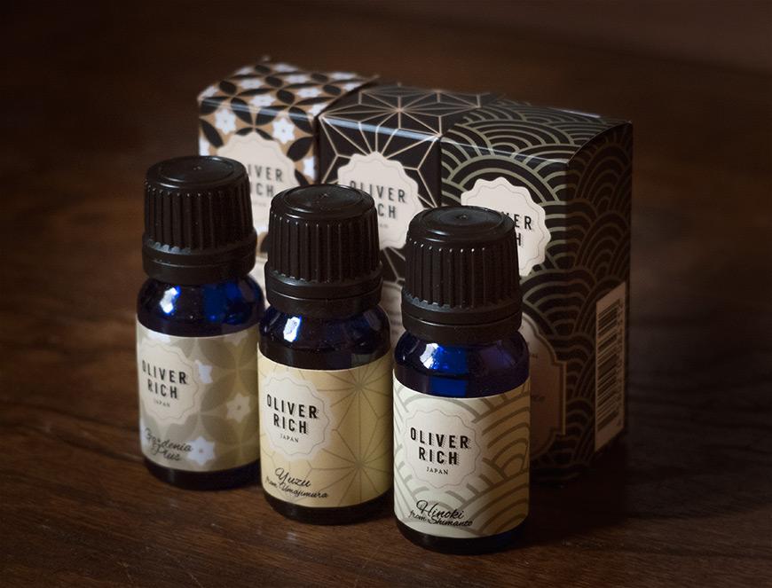 Aroma oils bottles